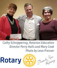 Pickering Rotary Club cheque presentation