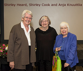 Shirley Heard, Shirley Cook and Anja Knuuttlia